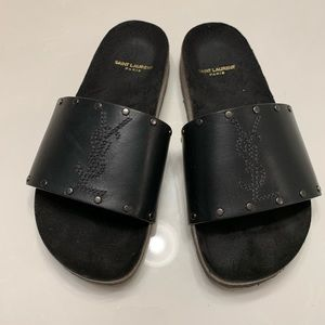 Saint Laurent Jimmy studded slide sandals 🍍